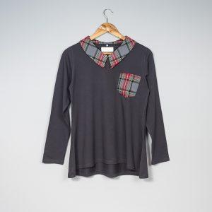 Camiseta cuello escocés