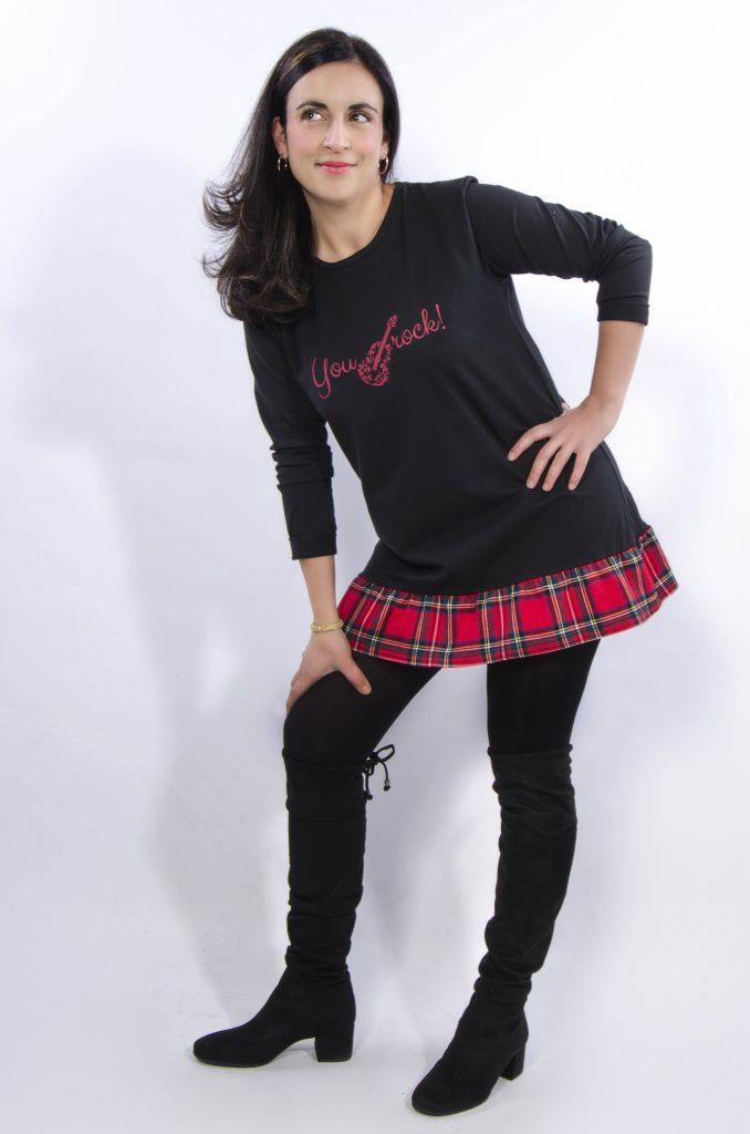 Camiseta falda escocesa