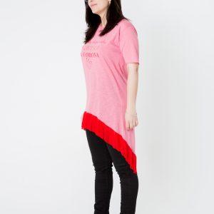 Camiseta Larga con Flecos