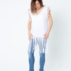 Camiseta larga étnica