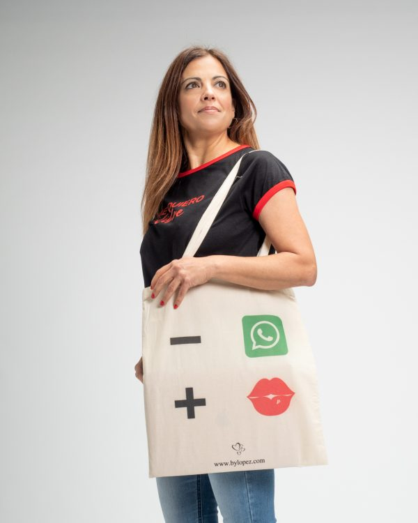 Tote bag – whatsap + besos